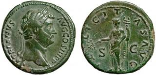 Sestercij-Cara-Hadriana