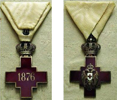 Orden Crvenog Krsta Kraljevine Srbije (1882 - 1918)