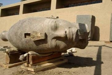 Pronađena kamena glava faraona