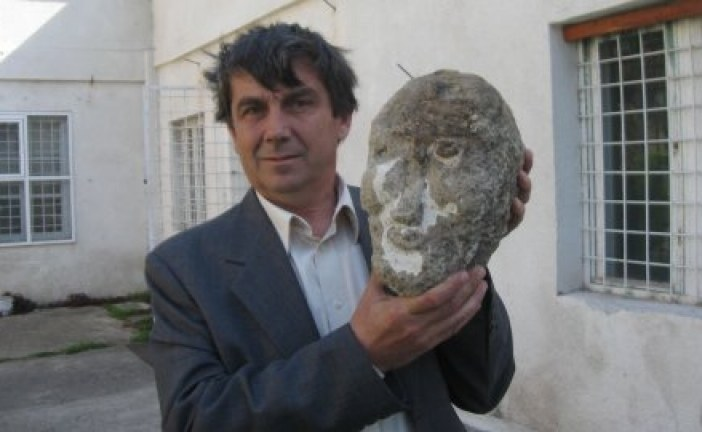 Iskopana kamena keltska glava iz II veka