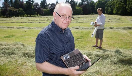 Vins Gafni na lokalitetu u Aberdinširu, u Škotskoj