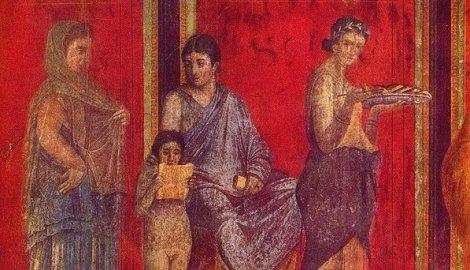 Jedna od fresaka nađenih u Pompeji