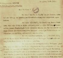 Pismo koje je Oskar Poćorek uputio ministru Austrougarske monarhije Bjelinskom