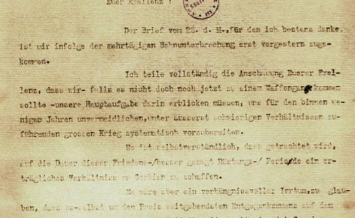 Šta piše o ratu u Poćorekovom pismu