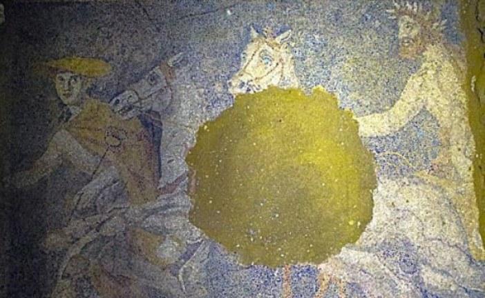 U drevnoj grobnici u Amfipolu otkriven podni mozaik