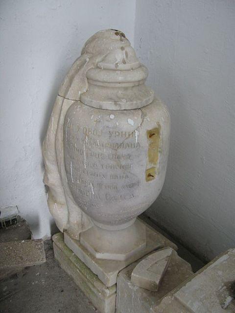 Urna Arčibalda Rajsa u kapeli na Kajmakčalanu.