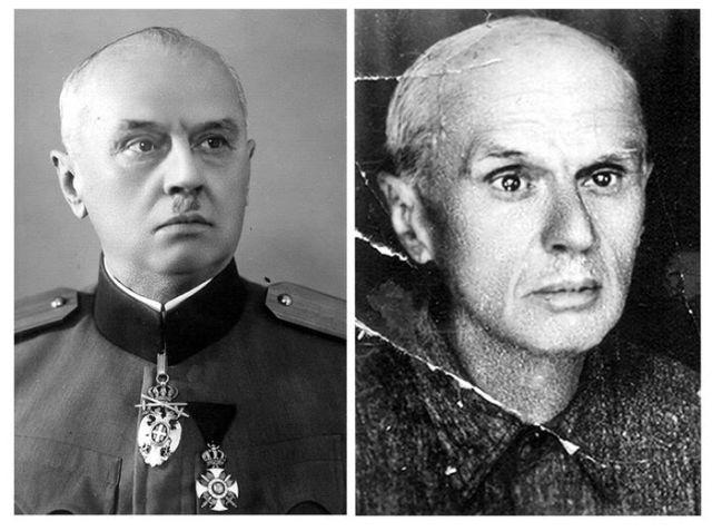 Major Dragutin Gavrilović pred Drugi svetski rat i po izlasku iz nemačkog logora 1945.