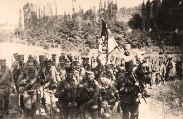 Četvrti pešadijski puk na čelu sa Dušanom Purićem na Mačkovom kamenu