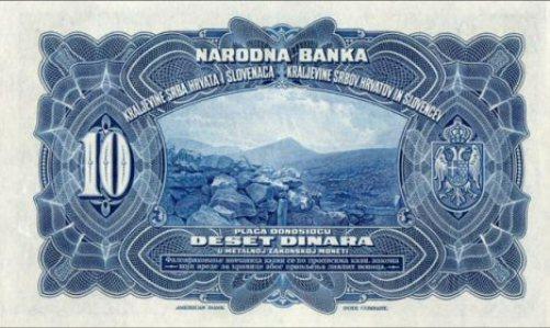 "Kraljevina SHS, 10 dinara 01.11.1920., ""Amerikanka"""