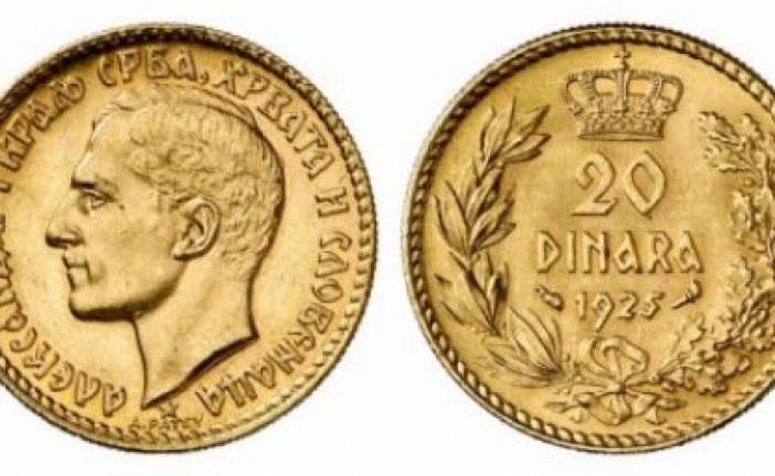 Zlatnik od 20 dinara 1925