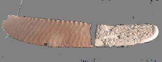 staroegipatski tupi nož od peščara sa kamenom drškom
