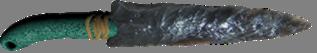 astečki nož/bodež od opsidijana, sa drvenom drškom