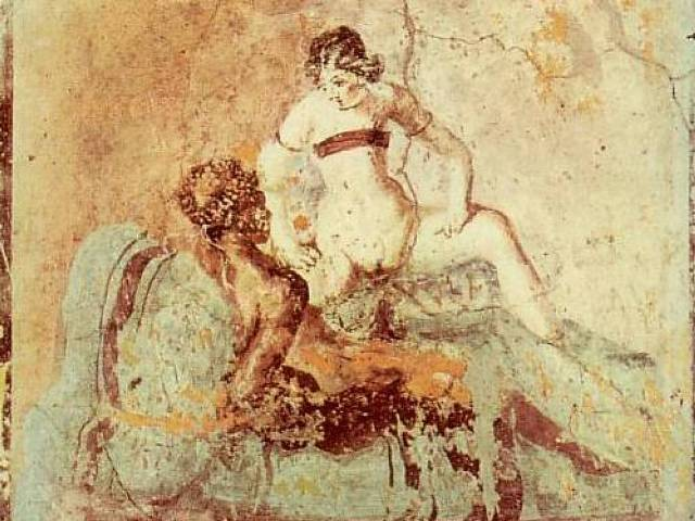 Dama i njen ljubavnik rob, Pompeja, Foto: Wikipedia