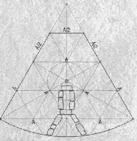 Geometrija osnovice kuća na Lepenskom Viru po Srejoviću