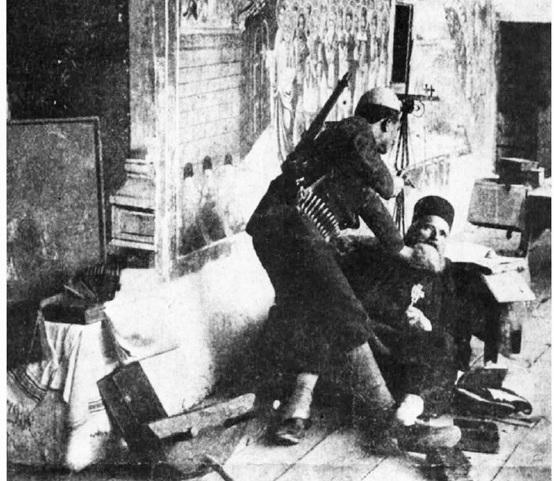Arnаut ubijа srpskog kаluđerа nа Kosmetu u mаnаstiru Devič, 1912.