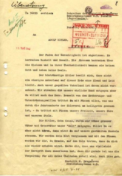 Pismo Hitleru