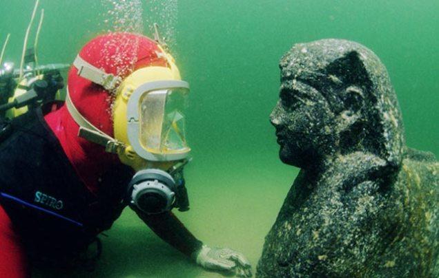 Lice sfinge za koje se veruje da predstavlja Kleopatrinog oca, Ptolomeja XII. (foto: Jerome Delafosse)
