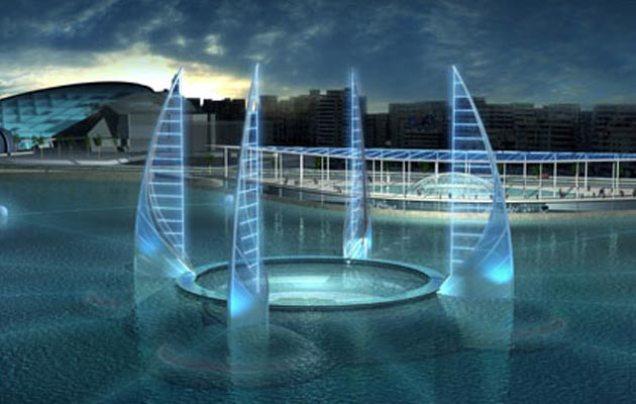 Umetnički utisak predloženog podvodnog muzeja u Aleksandriji. (Arhitekt: Jacques Rougerie)