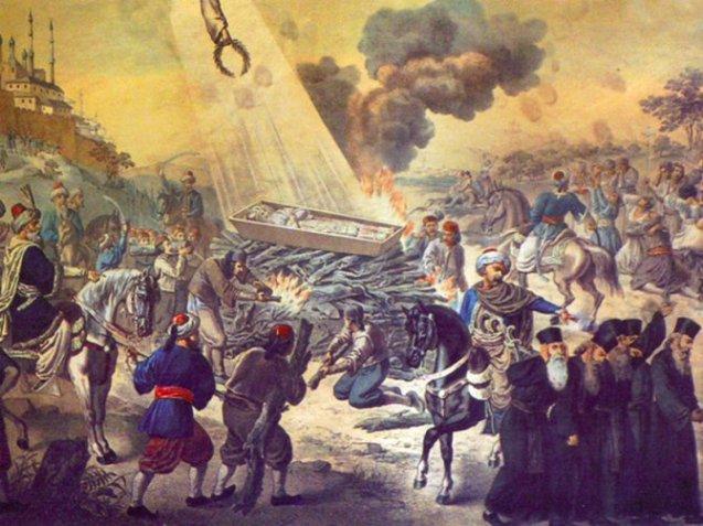 Spaljivanje moštiju Svetog Save na Vračaru 1594. godine.