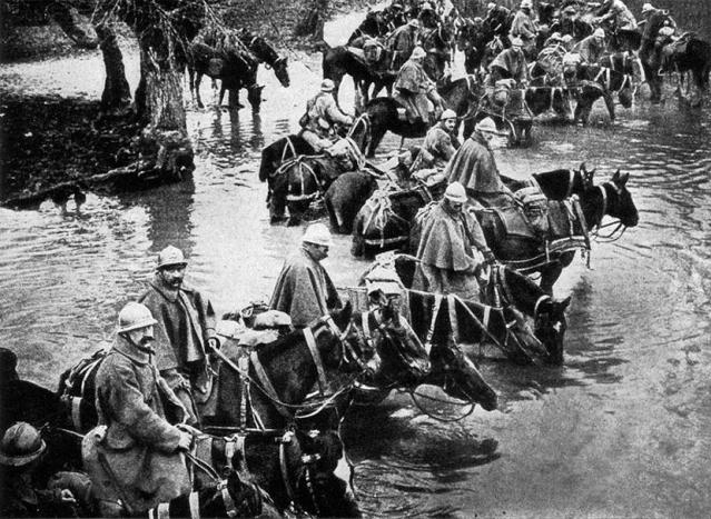 Bitka za Verdun tokom Prvog svetskog rata.