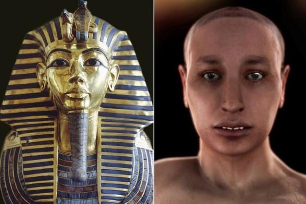 Posmrtna maska i rekonstrukcija Tutankamonovog lika