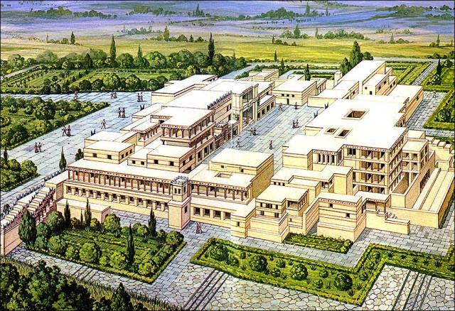 Rekonstrukcija izgleda palate u Knososu