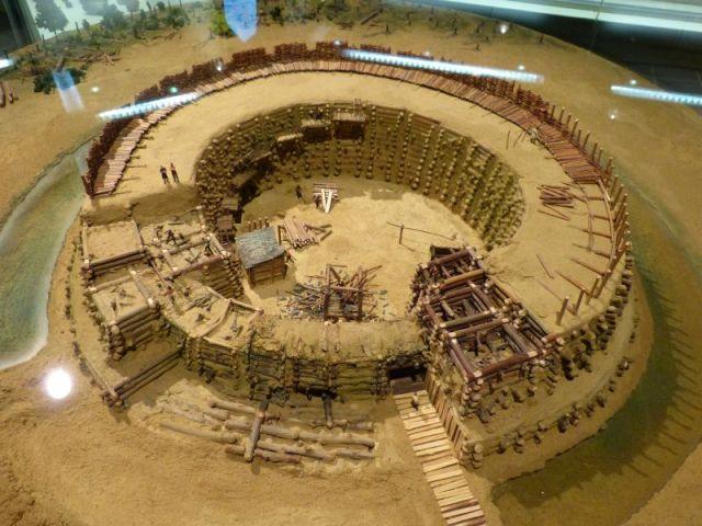 Model staroslovenskog grada iz 10. veka u arheološkom muzeju u pokrajini Brandenburg
