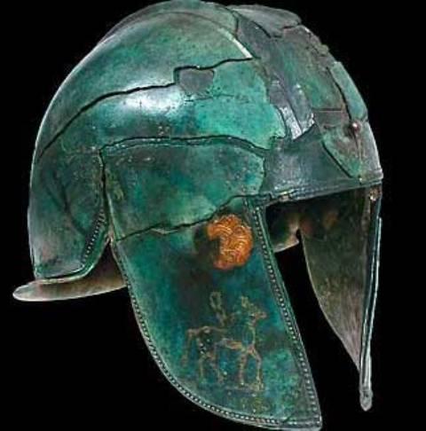 Šlem iz Trebeništa, bronza sa pozlatom, VI-V vek pre n.e.