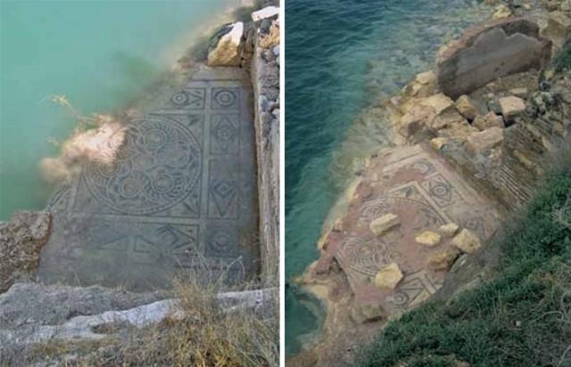 Deo mozaika je oštećen u poplavama