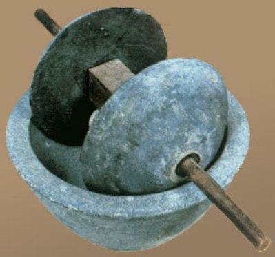 Ručni žrvanj za mlevenje žita, korišćen je u kući običnog stanovništva