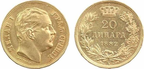 20 Динара 1882  /  20 Dinara 1882