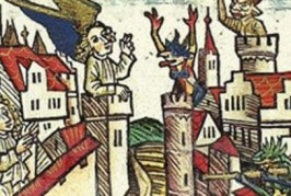 Šta će puška na srednjevekovnoj slici?