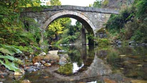 Rimski most u blizini Ivanjice, kod sela Kumanice.