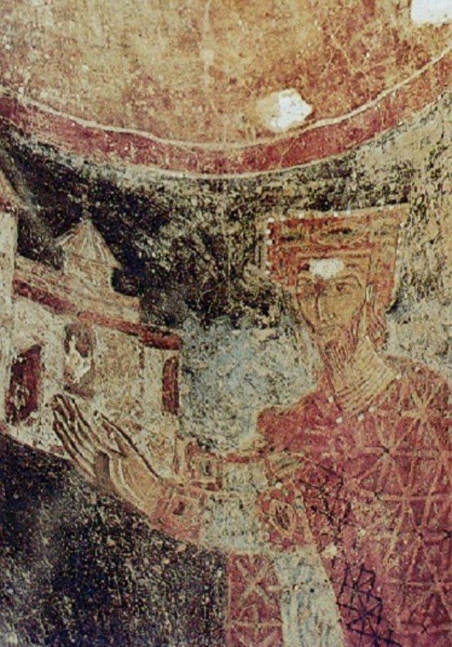 Portret Mihaila Vojisavljevića iz njegove zadužbine u Stonu.