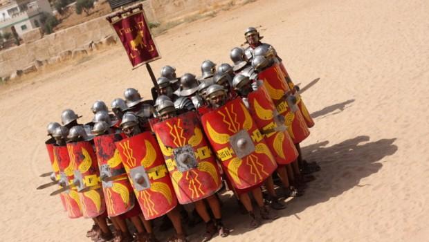 Rimska vojska čeka neprijatelja. Obično nikada nisu prvi napadali u bici.