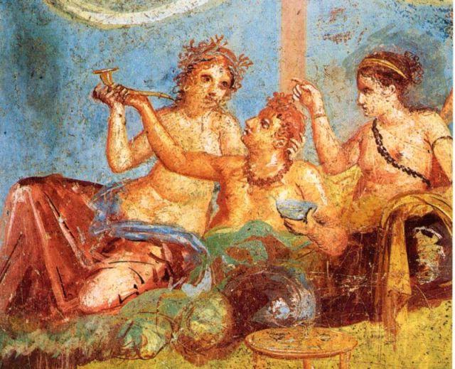 Rimska freska: Banket