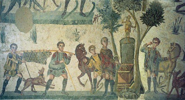 Rimski mozaik: Banket na otvorenom