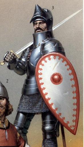 Srpski srednevekovni vitez u punom pločastom oklopu